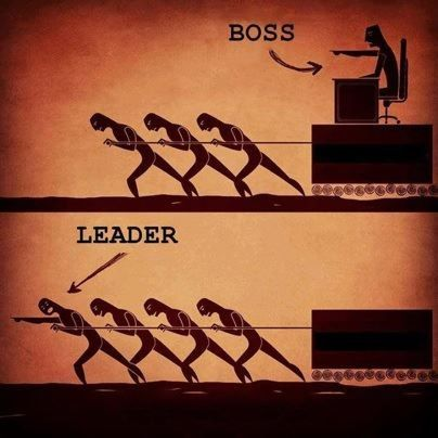 leader in front