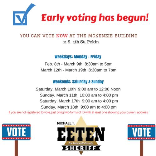 Early voting has begun!